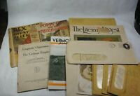 Vintage 1910-1960s Paper Ephemera Booklet Lot Brochure Lot 11 PCS Lot Q