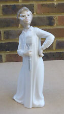 NAO BY LLADRO Boy in Nightgown with Fly Swatter Porcelain Figurine - 11 Inches