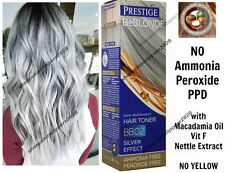 HAIR GREY GRAY SILVER TONER DYE BLOND BLEACHED LIGHT NO AMMONIA & PEROXIDE BB02