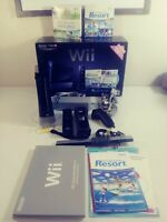 Nintendo Console Bundle Wii Sports and Resort (Sealed) Working Tested Black