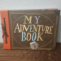 "Disney Parks Pixar UP ""My Adventure Book"" Replica Journal Carl Ellie with Photos"