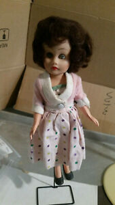 Pink sweater polka dot dress boots hong kong ? doll 1970's played with