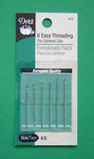 Dritz Easy Threading Hand Sewing Needles - Size 4/8 - 6 pack