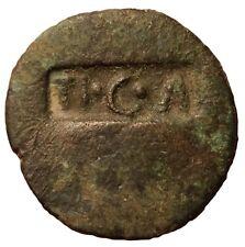 Caligula  Countermark  Ancient Coin TI.C.A