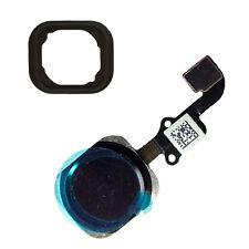 Noir bouton home câble flexible + id tactile en caoutchouc de remplacement pour iPhone 6 plus