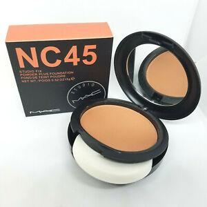 NEW! MAC Studio Fix Powder Plus Foundation NC45 Cool tone BNIB Fast/Free Ship