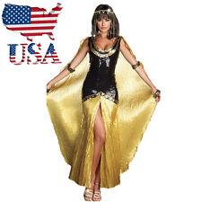 US Stock Halloween Costume Cleopatra Egyptian Goddess Roman Fancy Dress Outfit