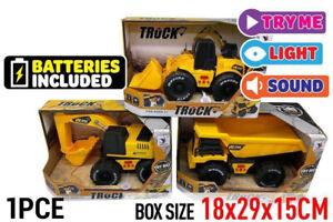 1pce Friction Construction Vehicle light&sound Age 3+ Boy Holiday Gift AU Post