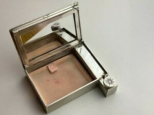 """Vintage Solid Silver """"800"""" Make Up Lipstick Case With Mirror Available Worldwide"""