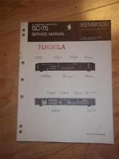 Kenwood Service Manual~SC-75 AV Surround Processor~Original Manual