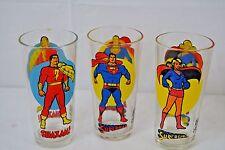 Vtg.1976 Pepsi Super Hero Series Glasses Shazam! Superman and Super Girl