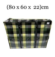 2 x Medium Laundry Bag Moving Strong Shopping Storage Reusable Zip- (80x60x22)cm