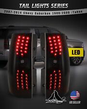 For Chevrolet Suburban 1500/2500 Tahoe LED Tail Lights Rear Lamp Smoke Lens Pair