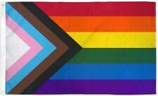 PringCor Progress Pride Large Flag 3x5Ft Gay Lesbian Lgbtq Community Trans Color