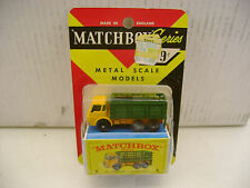MATCHBOX LESNEY ON FRED BRONNER BLISTER CARD #4D E-BOX DODGE STAKE TRUCK NEW
