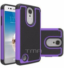 Fits LG K4 2017 Case Shockproof Rugged Heavy Duty Impact Hybrid Cover - Purple