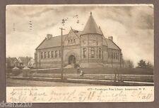 VINTAGE POSTCARD 1908 PRENDERGAST FREE LIBRARY JAMESTOWN NEW YORK