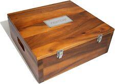 Nambe Handcrafted Miniature Nativity Keepsake Storage Box - Acacia Wood