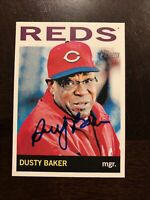 DUSTY BAKER 2013 TOPPS HERITAGE AUTOGRAPHED SIGNED AUTO BASEBALL CARD 207 REDS