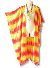 CD237 Plus Size Tie Dye Maxi Cardigan Kaftan Duster Wrap Dress - 2X, 3X, 4X & 5X