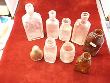 #4 of 7, LOT OF OLD VTG ANTIQUE MEDICINE/APOTHECARY BOTTLES, A S HINDS, PORTLAND
