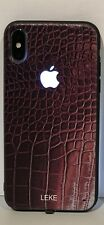 LEKE Apple iPhone XS Apple iPhone X LED Light Phone Case Logo Rust Crocodile!