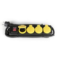 4er Steckerleiste Mehrfachstecker Steckdosenleiste Außen Outdoor mit Schalter