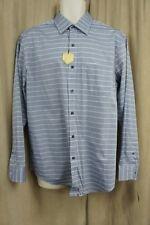 Tasso Elba Camisa Hombre TALLA M 15-15 ½ Azul Multicolor Algodón de Rayas
