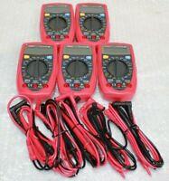 Lot of 5 Etekcity Digital Multimeter MSR-A600 Electrical Amp Voltage Tester @R5