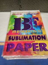 600 Sheets BF Designs Sublimation  Paper 13x19 120g 50 sheet/pack