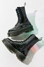 Doc Martens Jadon Hi 10-Eye Rainbow Boots Womens Size 9 41 New