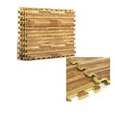 EVA Foam Floor Wood Effect Interlocking Gym Play Home Workout Soft Tiles Mats
