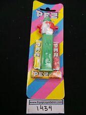 MMM Clown Pez on Green Stem Mint on Striped Card