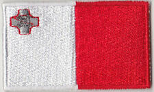 Malta Country Flag Embroidered Patch T4