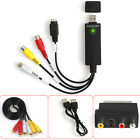 USB VHS To Video Capture Device with Composite & S-Video Female Inputs & Cable