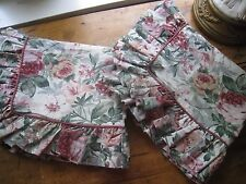 FLORAL CROSCILL RUFFLED WITH PIPING STANDARD SHAMS  #115