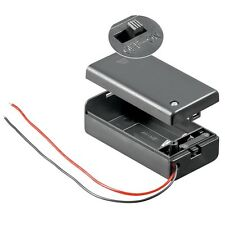 5x Portapilas PUERTOS 9 voltios batería con encendido /Apagado Interruptor,