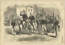 1857 General Havelock And Staff At Mosque Picket Before Delhi