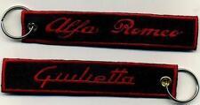 Portachiavi in panno ricamato ALFA ROMEO GIULIETTA cm. 13 x 2,5