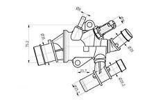 VALVOLA TERMOSTATICA FIAT STILO (192) 1.9 JTD (192_XE1A) DAL 10.2001>08.2004