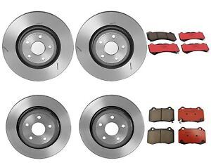 Brembo Front & Rear Brake Kit Disc Rotors Ceramic Pads For Durango Cherokee SRT