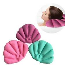 Inflatable Bath Pillow Bathtub Spa Head Rest Neck Support Comfort Relax Tub