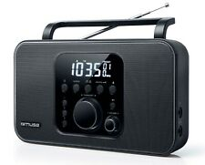 MUSE M-091R Radio Sveglia Portatile Stereo FM/AM Pile/Corrente Display Digitale