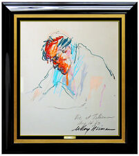 LEROY NEIMAN Original PAINTING Signed Oil Pastel Authentic Playboy Artwork SBO