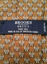 Brooks Brothers Basics Penguin Tie Golden Brown Background With Penguin Couples