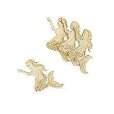 Mermaid Laser-Cut Wood Shapes, Natural, 2-Inch, 12-Count