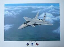 "Sam Lyons,Jr- ""Guardian Eagle"" F-15 fighter jet, 128 TFS,  LTD ED, S/N (315/400)"