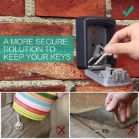 4-Digit Outdoor Security Wall Mounted Key Safe Box Code Secure Lock-Storage KK