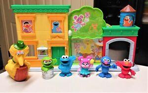 Sesame Street Playskool Discover ABCs Playset with figures lot