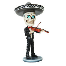 Dia de Los Muertos Mariachi Bobblehead Violin Player Day Of The Dead Skull  DOD